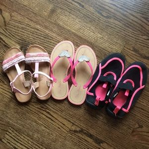 Other - Girls Summer Shoes Lot Size 13 1 Sandals Water 💦